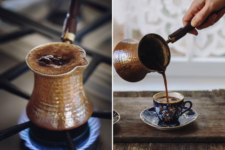 تحضير القهوة التركية