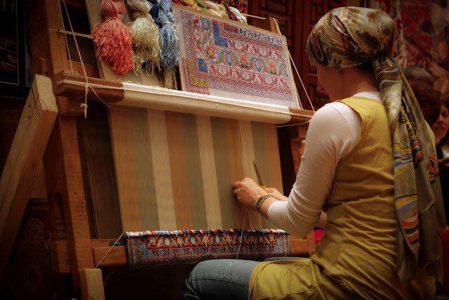 صناعة السجاد التركي